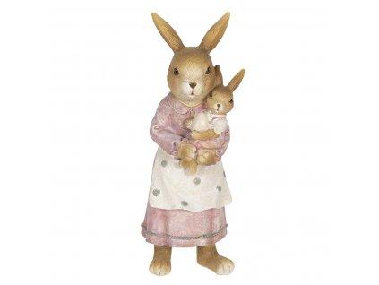 Clayre & Eef - Zaječí mamka se zaječkou v náručí - 7*7*19 cm
