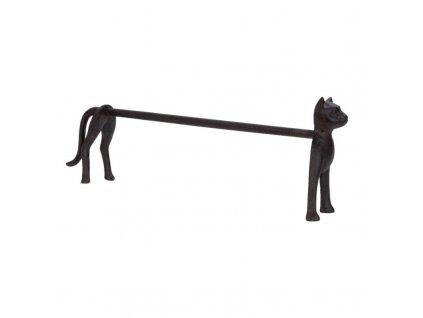 Clayre & Eef - Kovový držák na papírové utěrky ve tvaru kočky