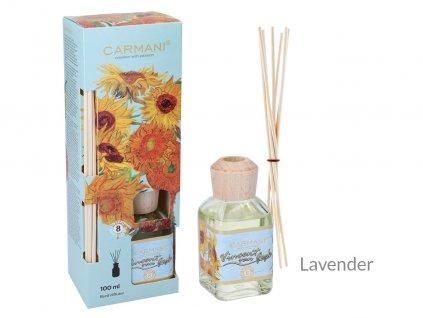 Carmani - Designový difuzér Vincent van Gogh - Sunflowers Lavender  - 100 ml