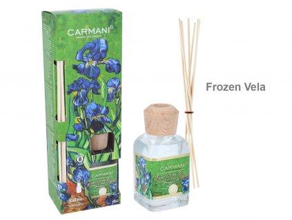 Carmani - Designový difuzér V. Van Gogh, Irysy - Frozen Vela - 100 ml