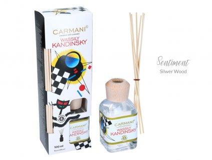 Carmani - Designový difuzér W. Kandinsky - Sentiment Silver wood - 100 ml