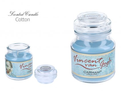"V. Van Gogh - Vonná svíčka ve skle ""Cotton"" - 335 gV. Van Gogh - Vonná svíčka ve skle Cotton - 335 g"