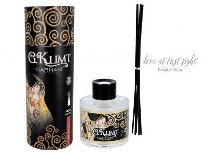 Carmani - Designový difuzér G. Klimt Love at first sight Frozen Vela v dárkovém tubusu - 100 ml