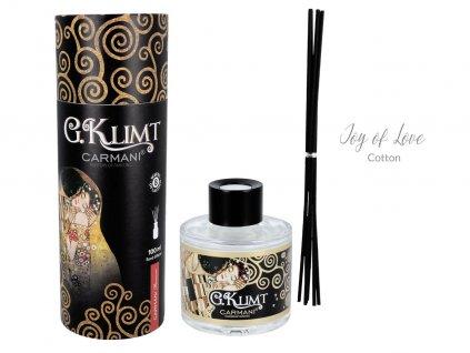 Carmani - Designový difuzér G. Klimt Cotton - Joy of Love v dárkovém tubusu - 100 ml