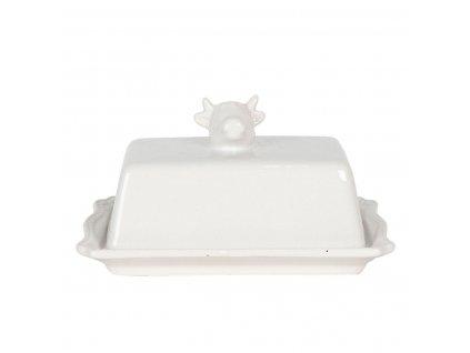 Clayre & Eef - Keramická máselnička COW - 18*14*8 cm