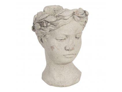 Clayre & Eef - Kameninový květináč WOMAN - 18*17*25 cm