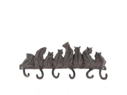 Clayre & Eef - Nástěnný věšák CATS s šesti háčky Ocásky