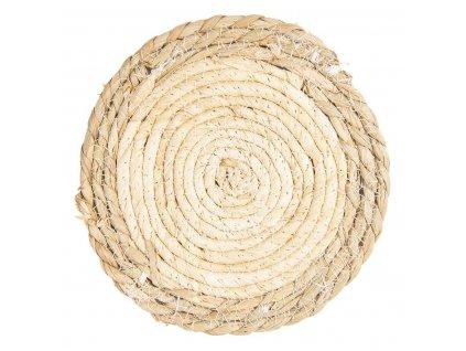 Clayre & Eef - Přírodní prostírání z mořské trávy pod skleničky - Ø 18 cm - 2 ks