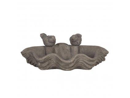 Clayre & Eef - Ptačí pítko tvarované s ptáčky - 30*22*11 cm