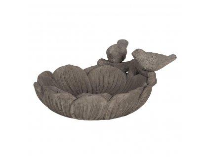 Clayre & Eef - Ptačí pítko ve tvaru květu s ptáčky - 24*23*11 cm