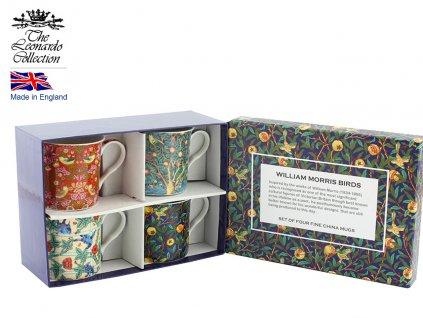 """Leonardo - Sada Porcelánových hrníčků """"William Morris"""" v dárkové krabičce - 4*250 ml"""