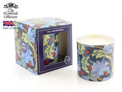 """Designová vonná svíčka ve skle William Morris """"Blue - 400 g"""
