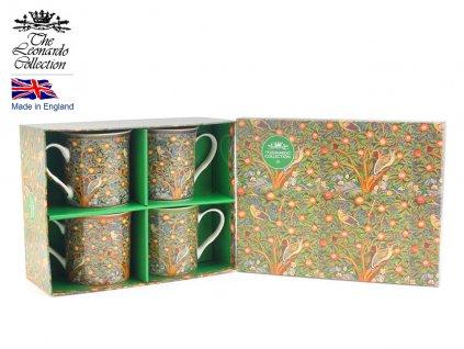 """Leonardo - Sada Porcelánových hrníčků """" William Morris II"""" v dárkové krabičce - 4*250 ml"""