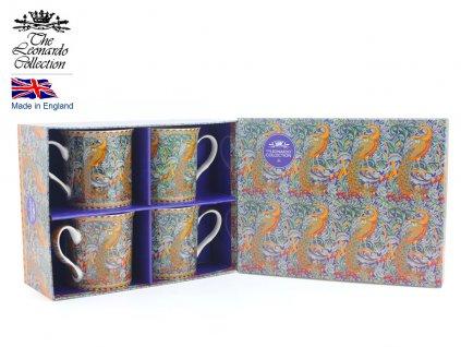 """Leonardo - Sada Porcelánových hrníčků """" William Morris III"""" v dárkové krabičce - 4*250 ml"""