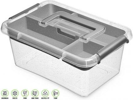 Antibakteriální box s vložkou na přílohy /29*20*12 cm/ - 4,5 l