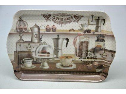 Melaminový tác COFFEE - 21*14*3,2 cm