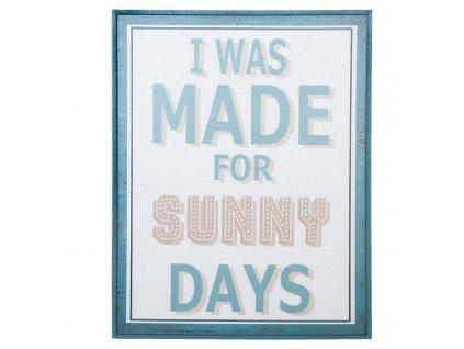 Clayre & Eef - Dřevěná cedule SUNNY DAYS - 31*3*41 cm