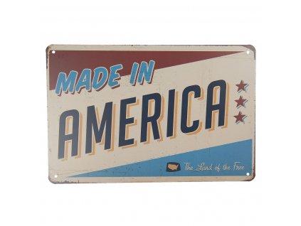 plechova cedule made in america