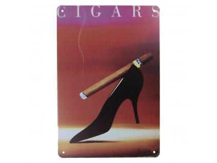 plechova cedule cigars