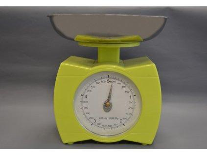 Kuchyňská váha v zelené barvě