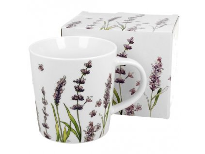 """Porcelánový hrnek v dárkové krabičce """"Levandule"""" - 450 ml"""