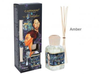 Carmani - Designový difuzér A. Modigliani Amber - 100 ml
