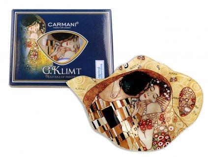 """Podčajník G. Klimt """"Polibek"""