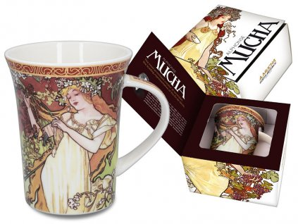 Porcelánový hrnek Alfons Mucha léto