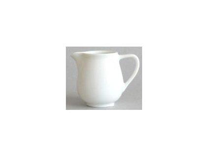 Porcelánová mlékovka v bílé barvě