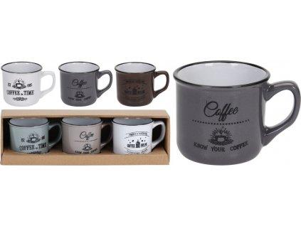 Keramické hrnky COFFEE na espresso - 3*100 ml