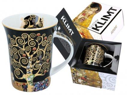 Porcelánový hrnek Gustav Klimt Strom života v dárkové krabičce