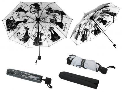 Skládací deštník Bláznivé kočky