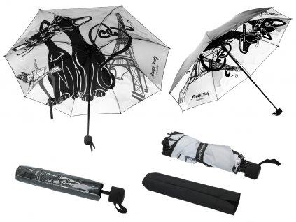 Skládací deštník kočky