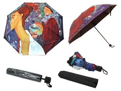 Skládací deštník A. Modigliani, Autoportrét a Lunia Czechowska