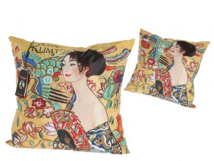 Polštář G. Klimt, Žena s vějířem.