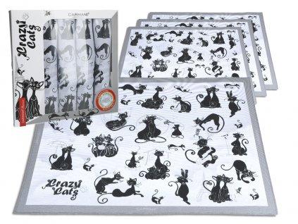 Sada textilních prostírání z kolekce bláznivé kočky