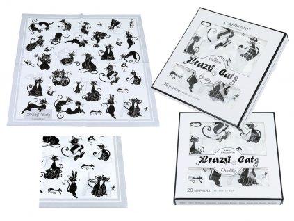 Papírové ubrousky bláznivé kočky
