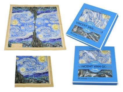 Papírové ubrousky V. Van Gogh. Starry Night