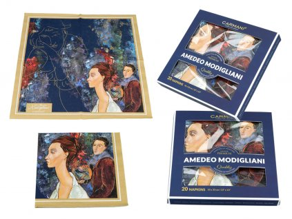 Papírové ubrousky A. Modigliani The woman in a hat and Mario Varvogli