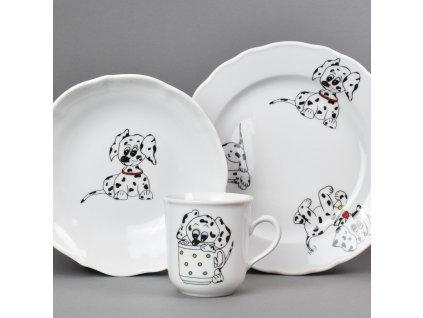 Dětská jídelní porcelánová souprava Dalmatýni