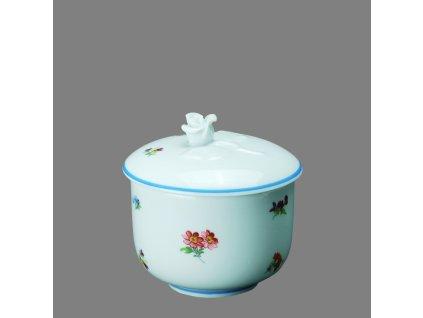 Porcelánová cukřenka rakouská házenka s modrou linkou 200 ml