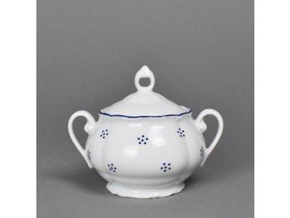 Porcelánová cukřenka Verona Valbella modrá s modrou linkou 250 ml