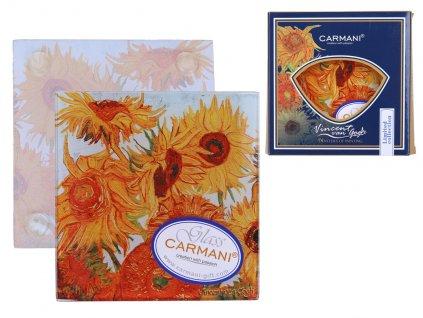 Skleněné prostírání pod skleničku Vincent van Gogh Sunflowers