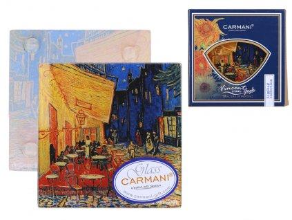 Skleněné prostírání pod skleničku Vincent van Gogh Terasa noční kavárny