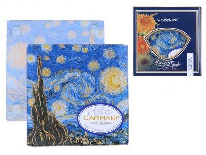 Skleněné prostírání pod skleničku Vincent van Gogh Hvězdná noc