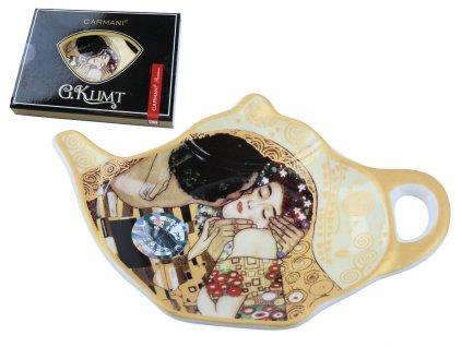Podčajník G. Klimt Polibek v dárkové krabičce