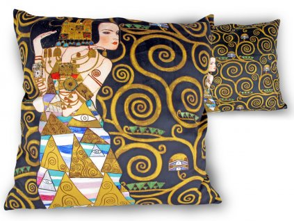 Polštář Gustav Klimt OČEKÁVÁNÍ