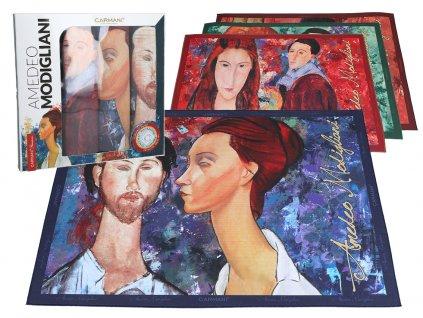 Sada 4 prostírání A. Modigliani