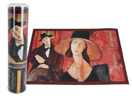 Prostírání A. Modigliani, Woman in a hat