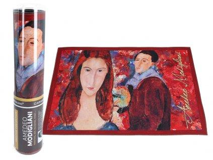 Prostírání A. Modigliani, Jeanne Hebuterne and Self-portrait